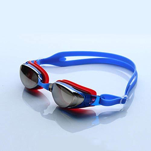 GFLD Schutzbrille mit Flacher, Heller Beschichtung, Farbe, Antibeschlag, Anti-UV-Versiegelung, einstellbare Schwimmbrille