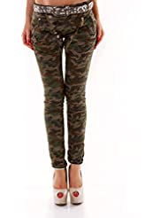 Designer Damen Jeans Secret Buttons Zipper Jeans Knöpfe Skinny Baggy Push Up