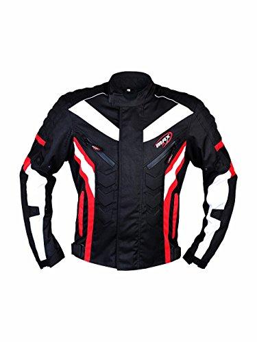 Motorrad Jacke maxfive Adventure Motorrad Racing Sport Touring CE und befürworten alle Wetter Moto tragen rot (Street Damen Jacken Bike)