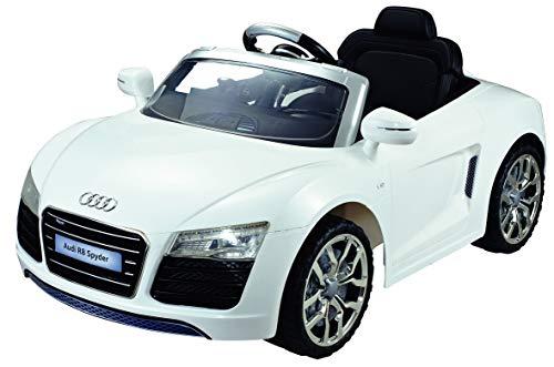 Kinderelektroauto - Audi R8 Spyder Cabrio-Weiß- 12 V Batterie- 2 Motoren