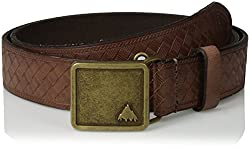 BURTON Women's Embossed Leather Belt, Brown Leather, Small