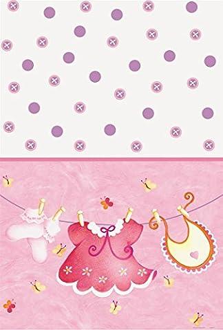 Kunststoff Pink Schirmhaspel Baby Dusche Tischdecke, 7ft x 4.5ft
