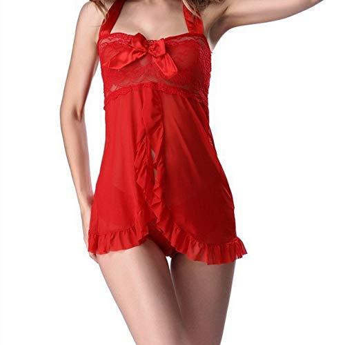 zysymx Mehrfarbige Netzpyjamas Transparente, große, tief Ausgeschnittene Pyjamas - Pyjamas für Unterwäsche