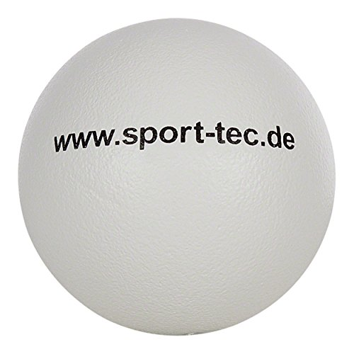 Schaumstoffball, Softball, Spielball aus Schaumstoff, beschichtet - 21 cm, weiß