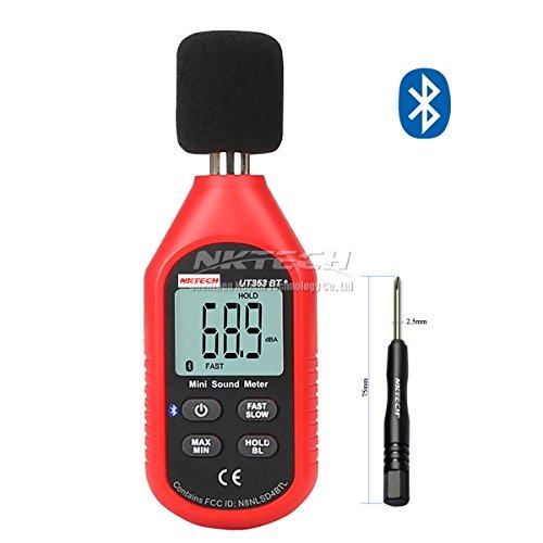 Preisvergleich Produktbild nktech ut353bt + Bluetooth Mini LCD Digital Sound Level Meter Test 30–130dB Instrumentierung Lärm Dezibel Überwachung Tester Frequenz 31,5Hz-8kHz mit tl-1Schraubendreher