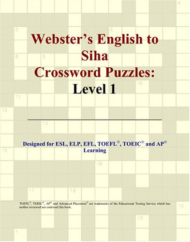 Webster's English to Siha Crossword Puzzles: Level 1 thumbnail
