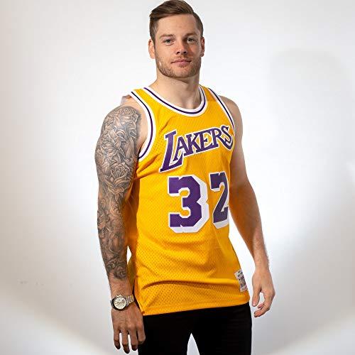 Mitchell & Ness - Maillot NBA swingman Magic Johnson Los Angeles Lakers Hardwood Classics Mitchell & ness jaune taille - L