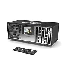 Majority Sidney Internetradio, 25W, Wi-Fi WLAN Verbindung, DAB/DAB+ / FM Digital-Radio, Bluetooth, Fernbedienung, USB Eingang/Aufladen, Aux-In, Doppelwecker und Einstellungen