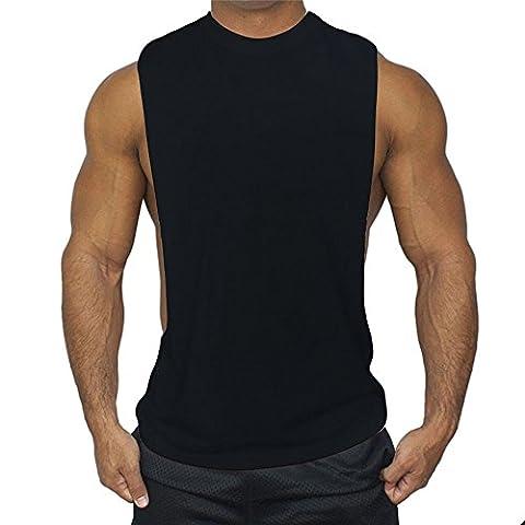qiansheng Herren Modal Baumwolle Fitness Weste Muscle Fit Weste Feuchtigkeitstransport