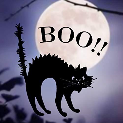 WSKRZS Wandaufkleber Happy Halloween Black Cat Startseite Haushalt Zimmer Wandaufkleber Removable New Vinyl RemovableWandaufkleber Halloween