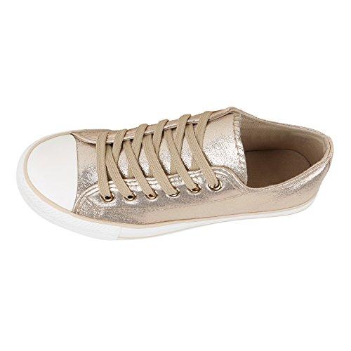 Herren Sneakers | Freizeitschuhe Sportschuhe | Schnürer Stoffschuhe |Fitness Streetstyle | viele Farben Gold Camiri