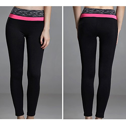 Zhhlaixing Womens yoga Pants Workout Running Fitness Leggings Trousers Q15-0035 pink