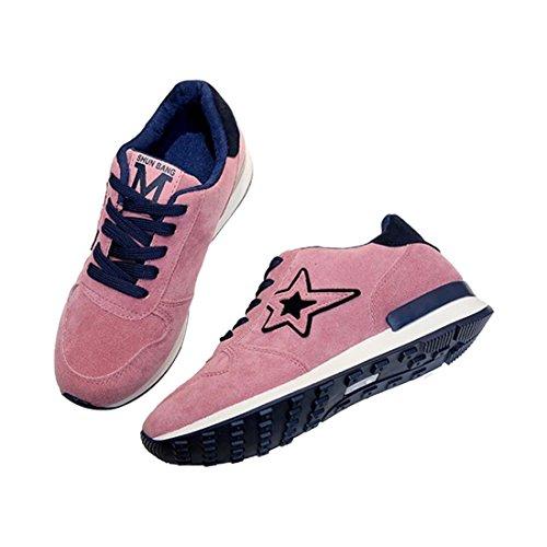 Foto de TOOGOO 1 Par de Zapatos Deportivos de Color Rosa de Estrella de Cinco Puntas Zapatos Antideslizantes Para Estudiantes Zapatos de Viaje de Senderismo US7.5 = EU38 Pies 240 mm