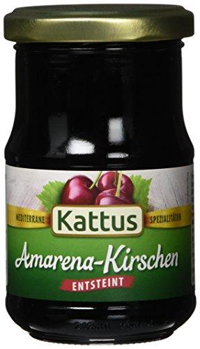 Preisvergleich Produktbild Kattus Amarena-Kirschen,  entsteint,  2er Pack (2 x 130 g)