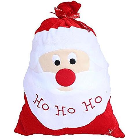 Anself ¡Feliz Navidad! Bolsa de Regalos Navideña de Papá Noel Bolso Saco de Dulces Adornos de la Decoración Suministros 52 * 71cm