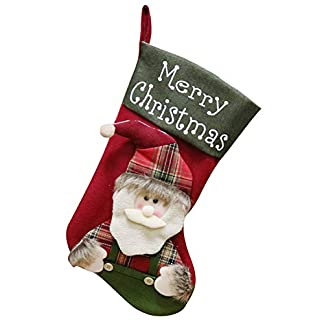 FEOYA – Calcetín de Navidad Colgante Decoración Navideña Hogar Árbol Bolsa de Caramelo Chocolate Festival Noel Lindos