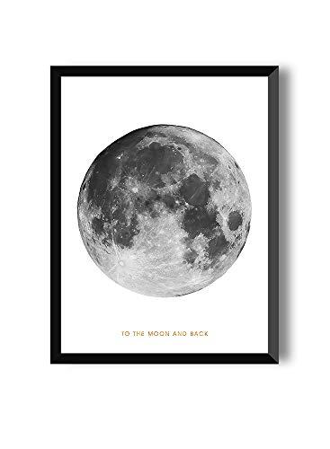 MILUKA Láminas para enmarcar colección Moon | Full Moon | Tamaño 20x30cm, 30x40cm, 50x70cm (20 x 30 cm)