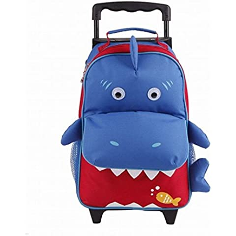 Babyhugs® 3Vías, diseño de maleta con ruedas Cabin Equipaje Mochila Mochila Preescolar Mochila Escolar con Ruedas–Tiburón