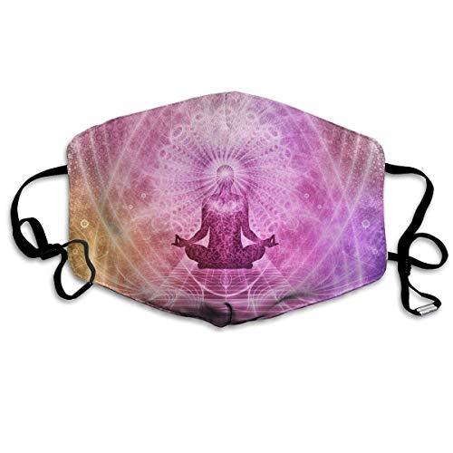 Masken für Erwachsene Waschbare wiederverwendbare MundMaskene Meditation Chakra Aura Yoga Sanskrit Pink Reusable Anti Dust Face Mouth Cover Masken Protective Breath Healthy Safety