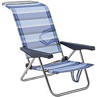Eredu 991 / TX - Silla Cama de Playa Posiciones Aluminio 77 x 60 x 83 cm