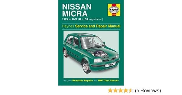 haynes workshop manual nissan micra 93 02 k to 52 reg amazon co uk rh amazon co uk Nissan Micra 2005 2001 Nissan Micra