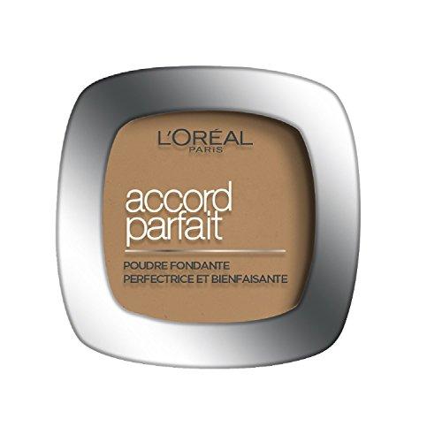 L'Oréal Paris Make Up Designer - Accord Parfait Fond de Teint Poudre Unifiant 6.5.D Caramel Doré