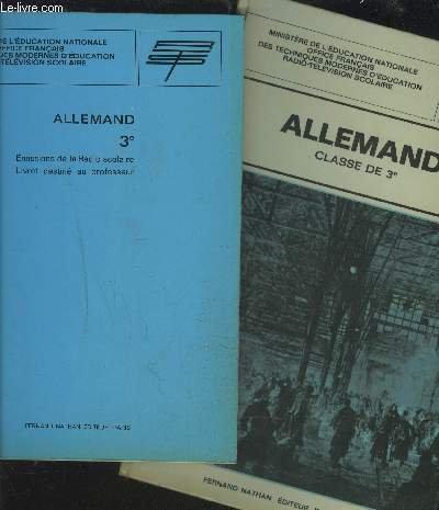 ALLEMAND 3° - EMISSIONS DE LA RADIO SCOLAIRE / LIVRET DESTINE AU PROFESSEUR + LIVRET DESTINE AUX ELEVES.
