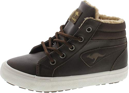 (KangaROOS Unisex-Kinder KAVU I High-Top, Braun (dk Brown/Sand 343), 33 EU)