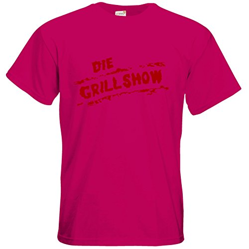 getshirts - Die Grillshow - The Shop - T-Shirt - Die Grillshow - Logo rot Sorbet