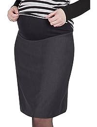 Mija - Eleganter Umstandsrock mit Unterfutter mit Bauchband 1018N