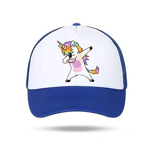 zhongjiany Gorra de béisbol Unicornio para niñas, niños, niños Sombrero de verano, sombrero para el sol, regalo único ajustable(Adjustable Blue)