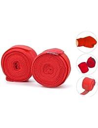 TOOGOO(R) Bandas de vendaje para MMA boxeo guante de boxeo boxeador sacos de perforacion de 2.5M rojo