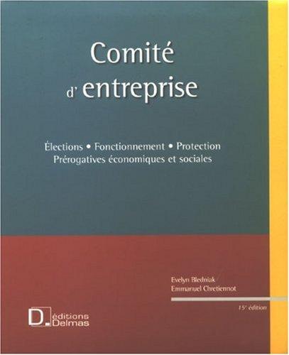 Comité d'entreprise (1Cédérom) par Evelyn Bledniak