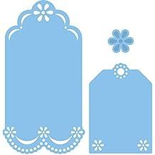 Marianne Design Creatables Troqueles con diseño Etiquetas, Metal, Azul, 6,1 x 11,1 x 0,4 cm