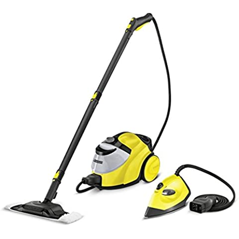 Kärcher 1512503 - Limpiadora a vapor con kit plancha, color amarillo