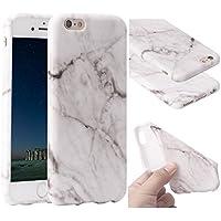 """Funda iPhone 6s Marmol, ZXK CO Carcasa de Silicona Suave Case Cover Protección cáscara Soft Gel TPU Carcasa Funda para Apple iPhone 6/6S 4,7"""" Trasera Case Caso de Mármol Diseño -Gris"""