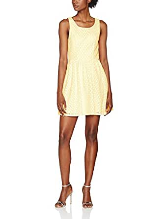 ONLY Onlline Fairy Lace Dress Wvn Noos, Vestito Donna, Giallo (Pale Banana), 36