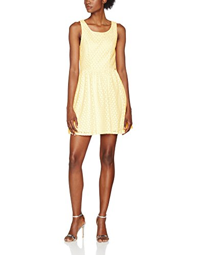 ONLY Damen onlLINE Fairy LACE Dress WVN NOOS Kleid, Gelb (Pale Banana), 38