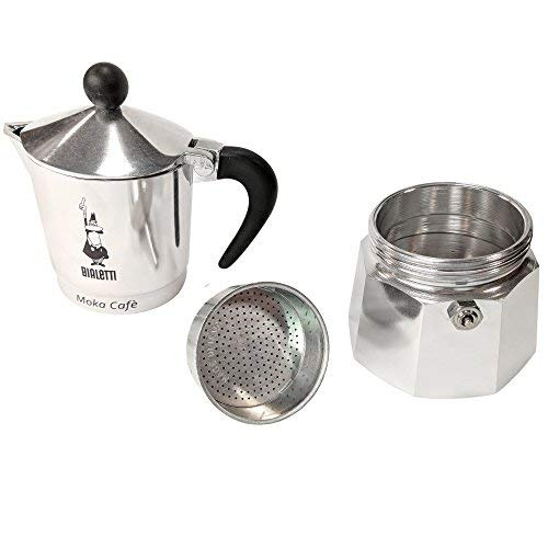 Bialetti Break Espresso Maker for 3 Cups, Aluminium, Black, 50 x 40 x 5 cm