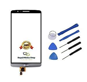 LG G3 Display Glas Digitizer Scheibe Touchscreen SCHWARZ GRAU + Werkzeugset
