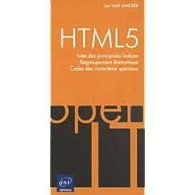 HTML5 - Liste des balises