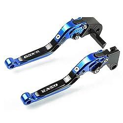 Motorrad Einstellbar Faltbar Brems kupplungshebel CNC Aluminium für Suzuki GSXR 600 2006 2007 2008 2009 2010 GSXR 750 2006 2007 2009 2010 GSXR 1000 2005 2006-Blau+Schwarz+Blau+Schwarz