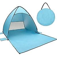 Spiaggia Tenda, Tecare Pop Up Tenda Anti-UV 50+ per 2-3 Persone / Campeggio / Backpacking / Escursionismo / Leggero / Facile installazione all'aperto Tenda Da Spiaggia (blue, 2-3 person)