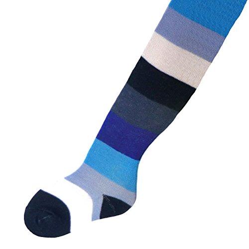 Kinderstrumpfhose Blockringel Farbe: blau, Größe: 122/128