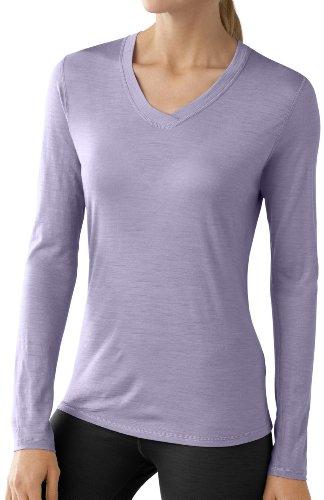 Smartwool NTS microweight Femme col en V XL Violet - Lavande