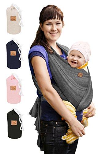 Extra Langes Elastisches 540cm x 55cm Babytragetuch für jeden Körpertypen • Inkl. Deutschsprachige Trageanleitung • Für Früh- und Neugeborene Kleinkinder • Dein Baby wird es Lieben, mit SoVerde
