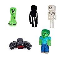 مجموعة العاب 5 دمى محشوة ماين كرافت كريبر اندرمان زومبي - Minecraft 5 plush toys Creeper and Enderman