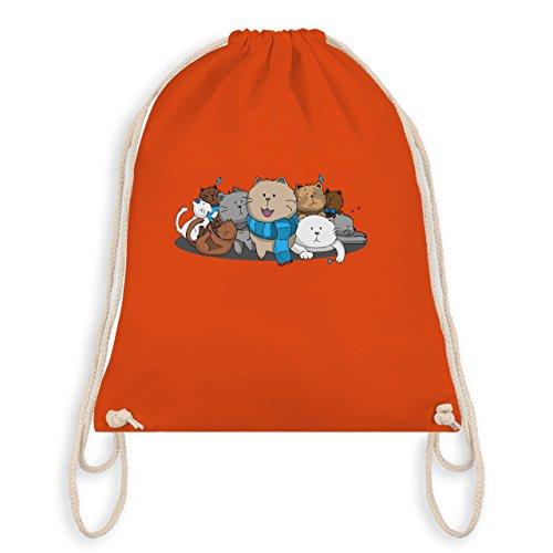 Katzen - süße Katzen - Turnbeutel I Gym Bag Orange