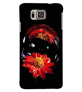 ColourCraft Amazing Flower Image Design Back Case Cover for SAMSUNG GALAXY ALPHA G850