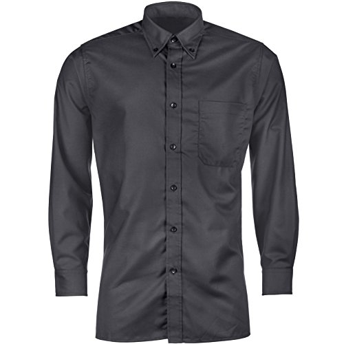 Urban Heritage Mens Long Sleeve Button Up Wrinkle Free Oxford Shirt